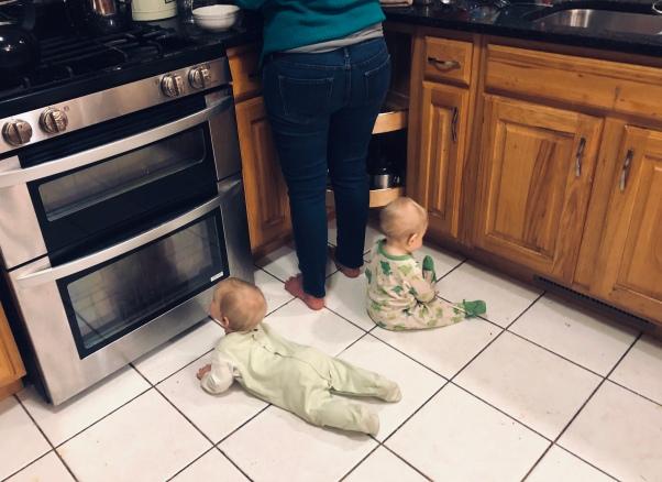 twins in kitchen 2